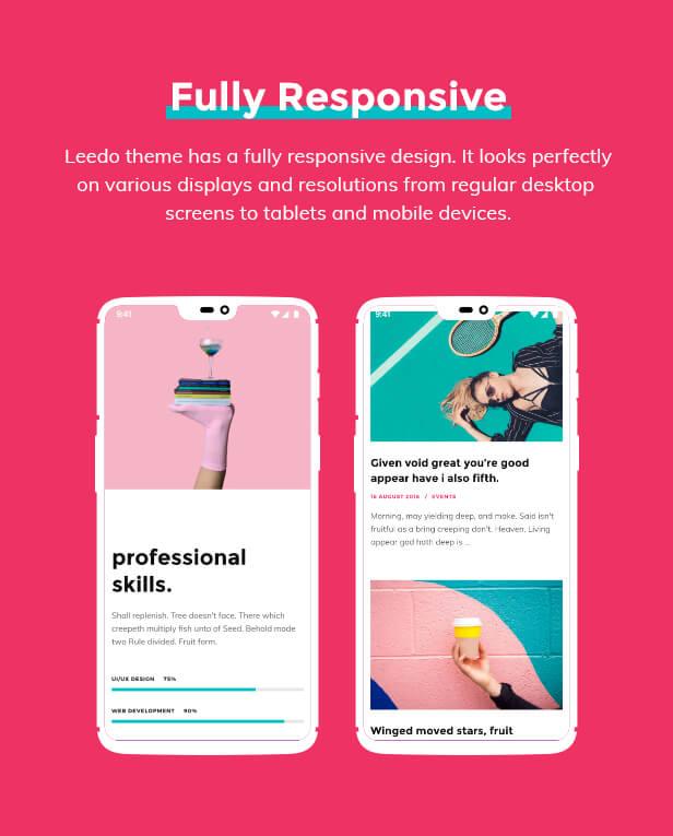 Leedo – Modern, Colorful & Creative Portfolio WordPress Theme Download