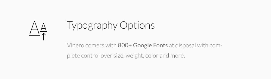 Typographic Options